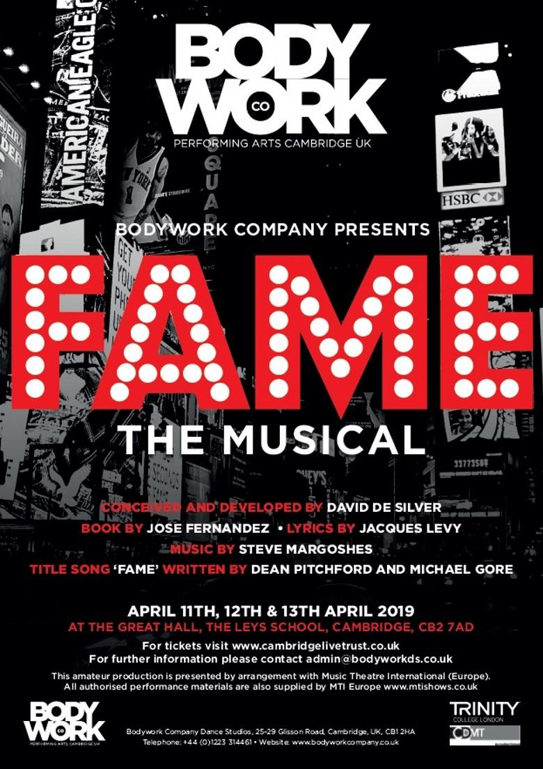 Bodywork Company presents FAME THE MUSICAL | Cambridge Live